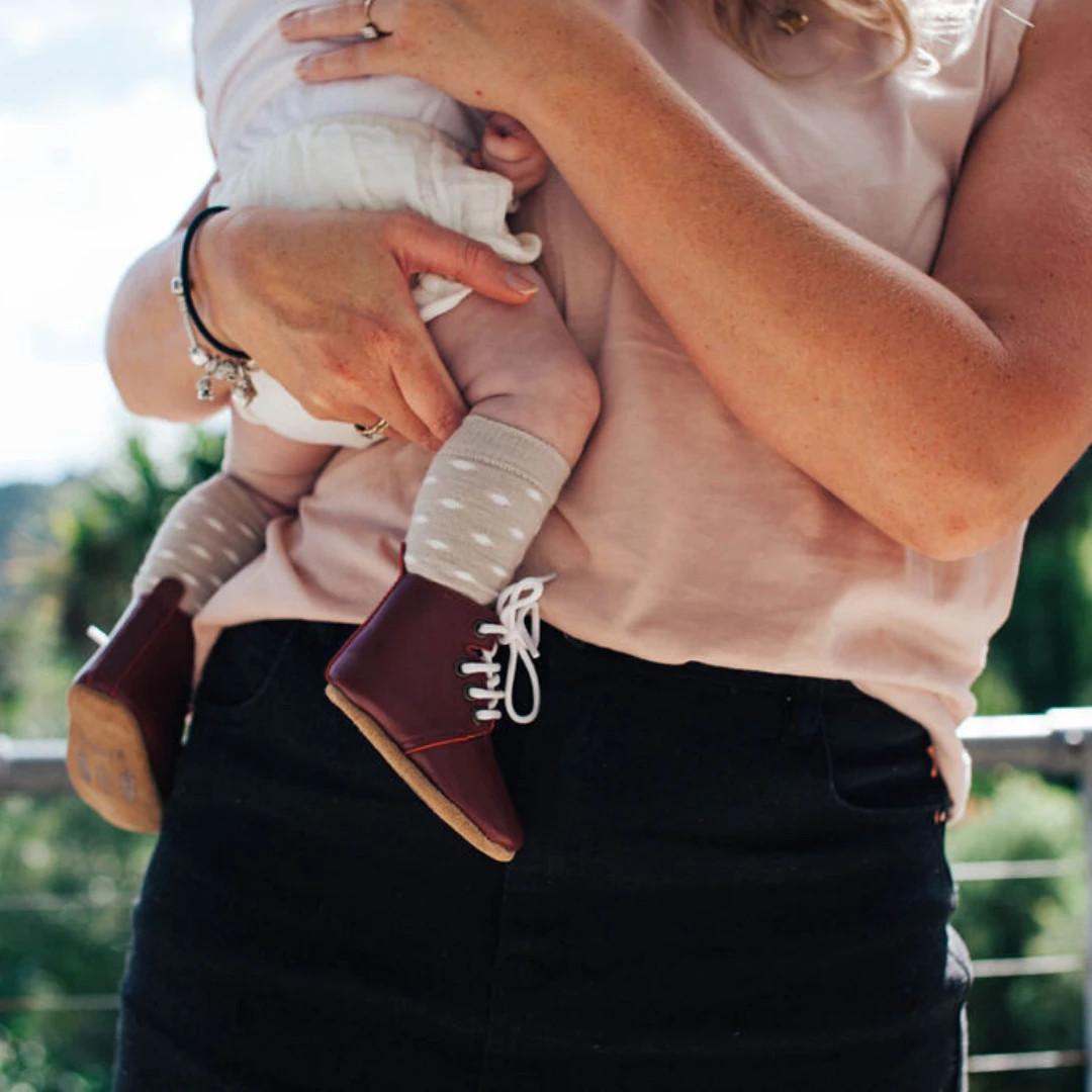 Lamington Baby Knee-High Merino Socks