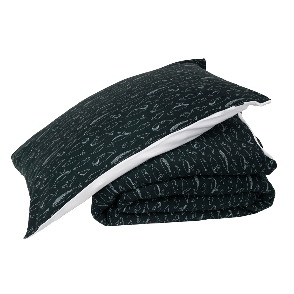 Deluxe Organic Jersey Duvet Cover - Whale