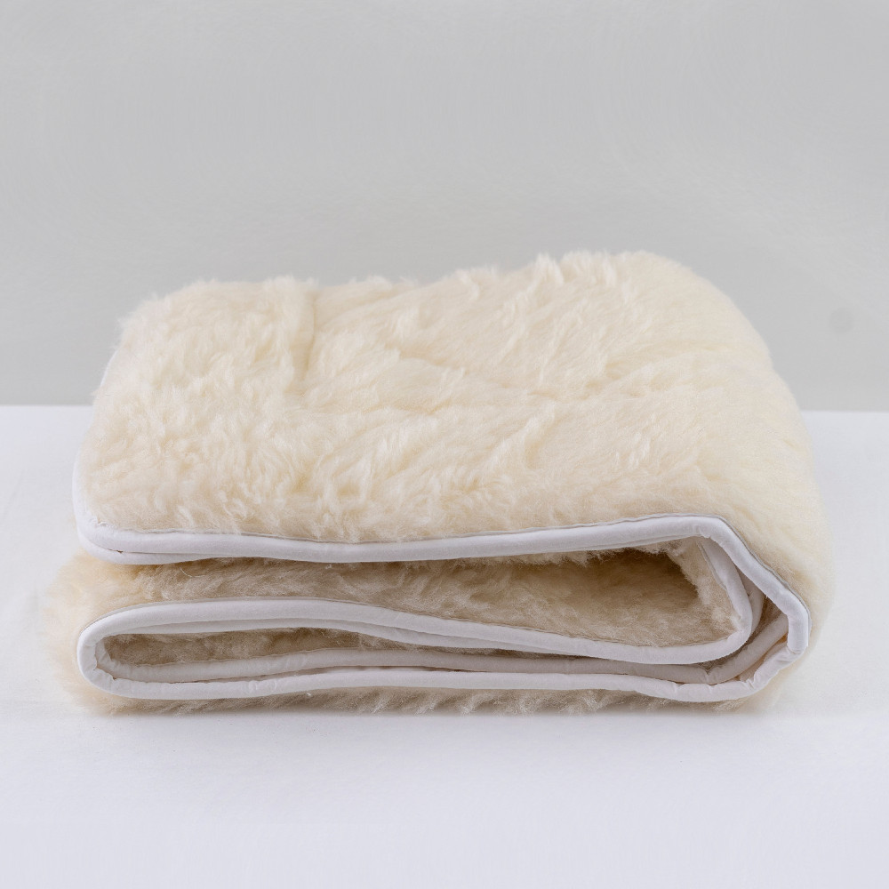 Reversible Quilted Wool Underlay - Cot Size