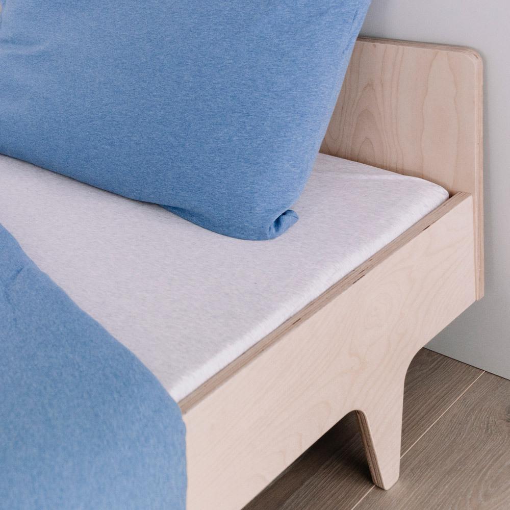 Deluxe Organic Jersey Duvet Cover - Blue Melange