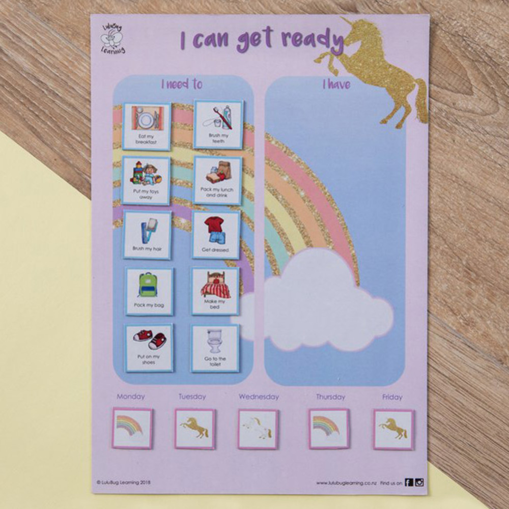 Magnetic Get Ready Chart