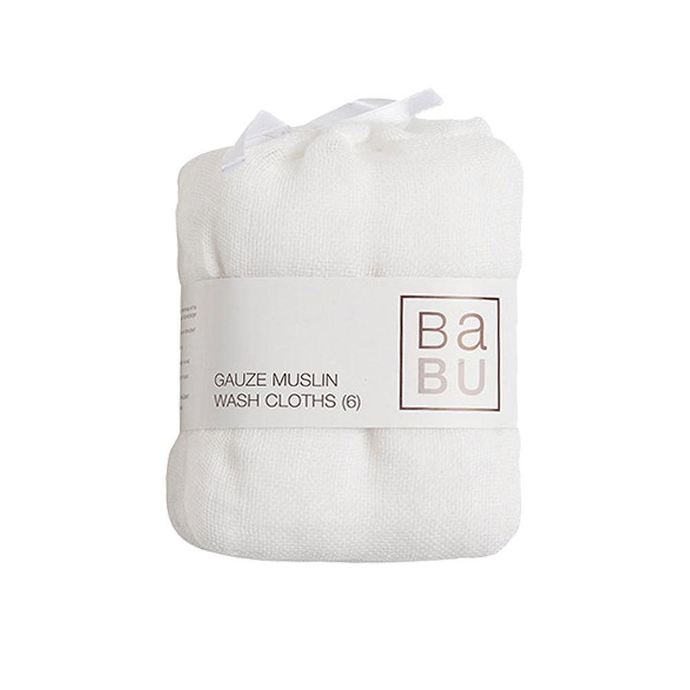 Gauze Muslin Face Cloths 6 pack