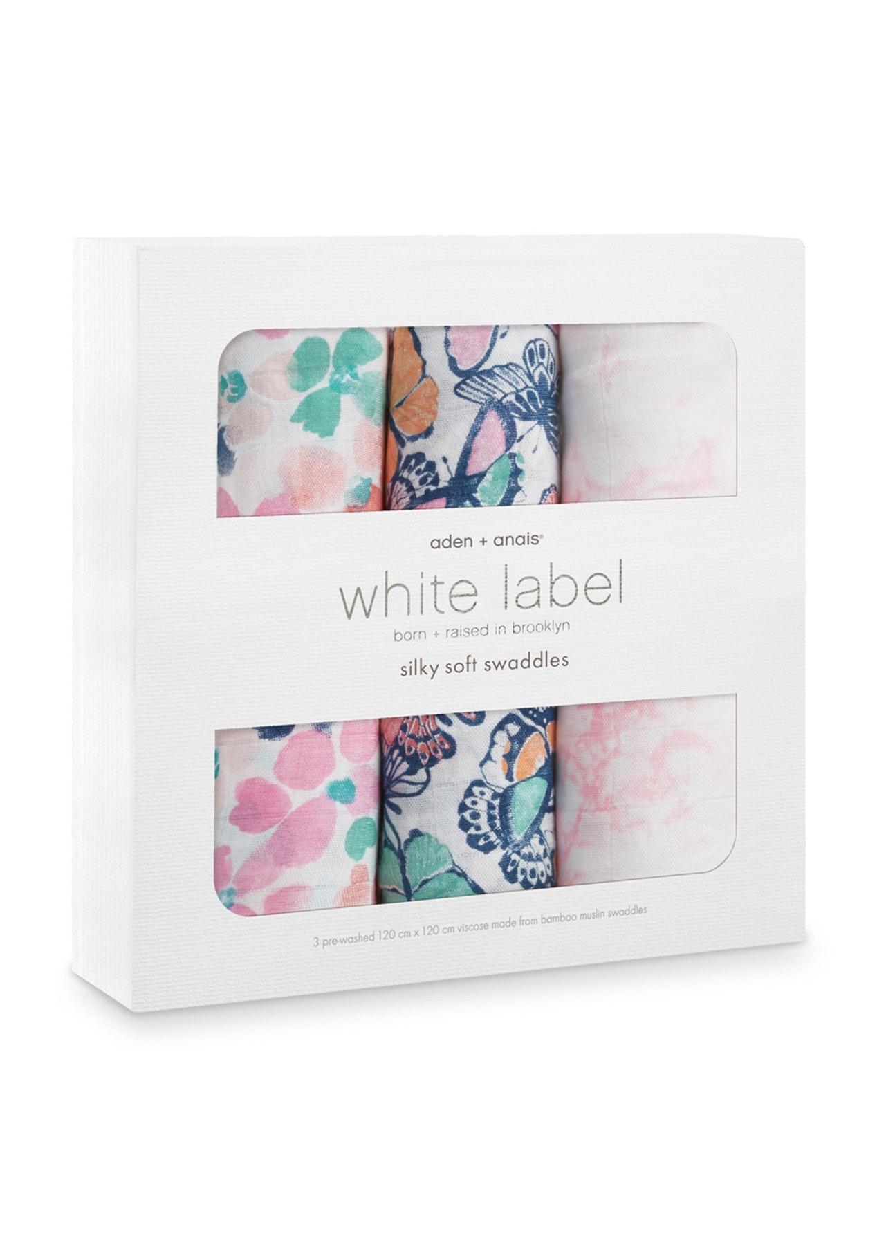 Aden & Anais Viscose Muslin Swaddles - 3pk - White Label