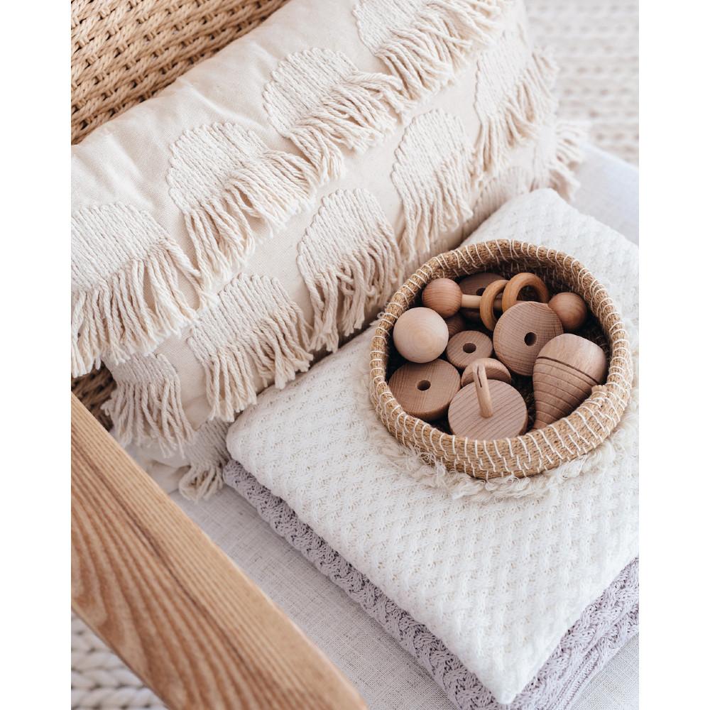 Diamond Knit Baby Blanket