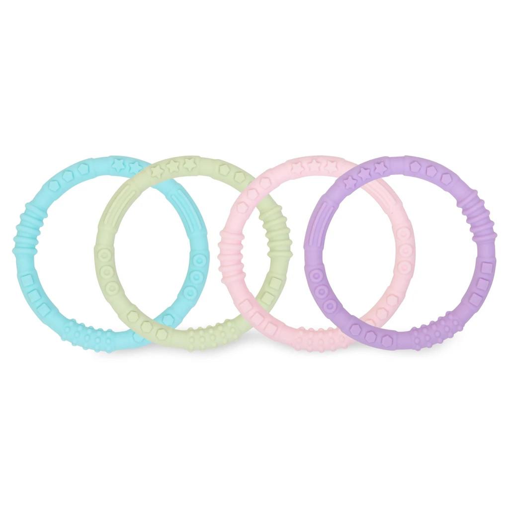 Bumkins Silicone Teething Rings 4pk