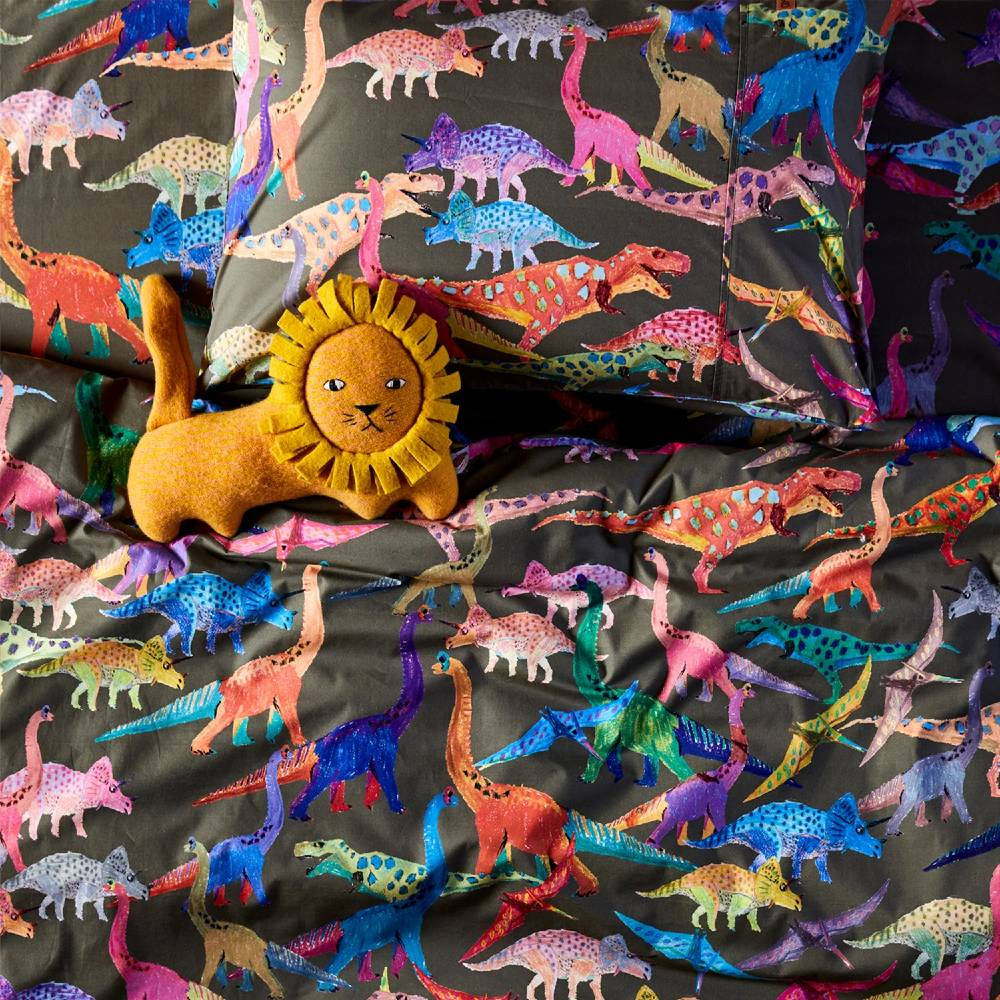 Kip & Co Flat Sheet - Dino Earth