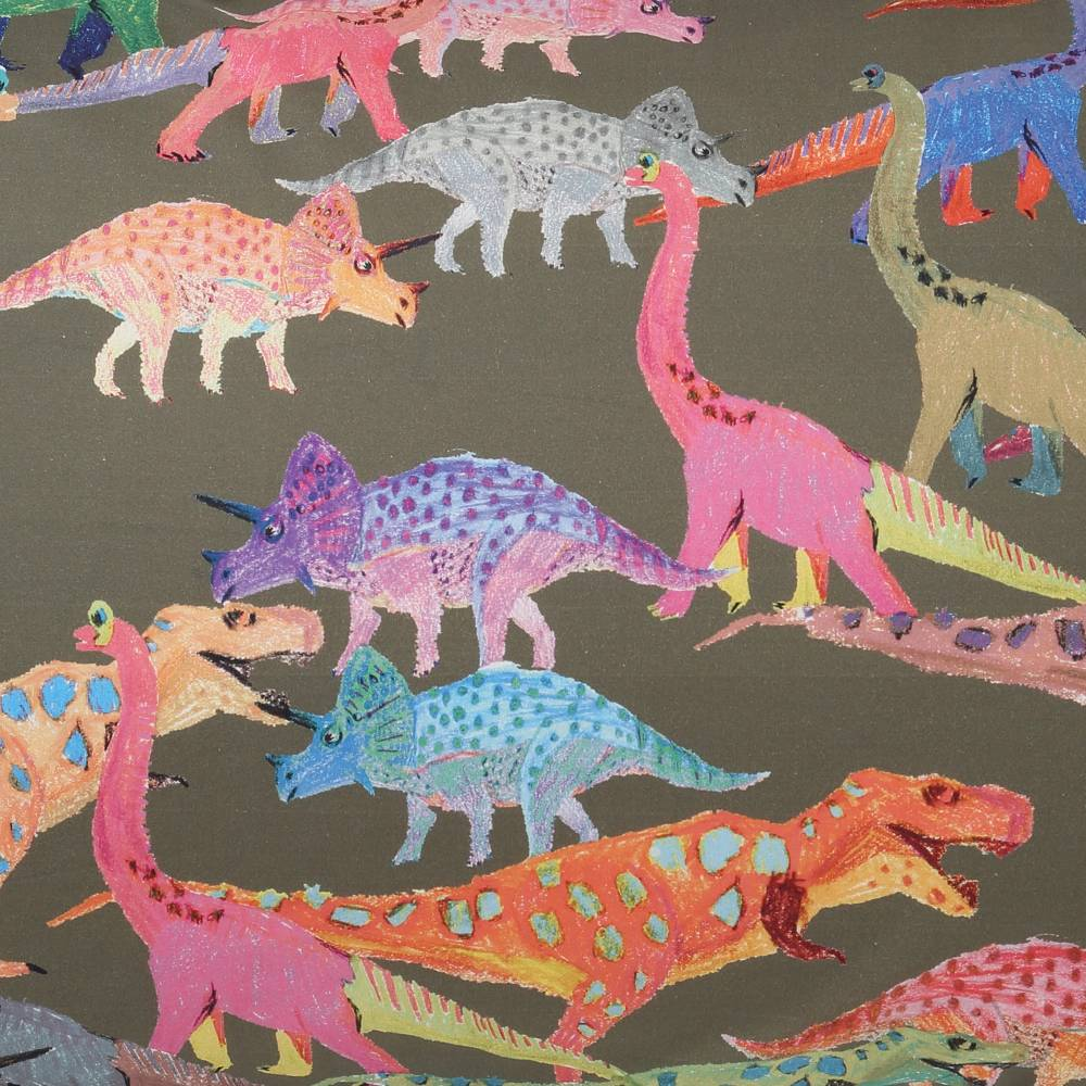 Kip & Co FItted Sheet - Dino Earth