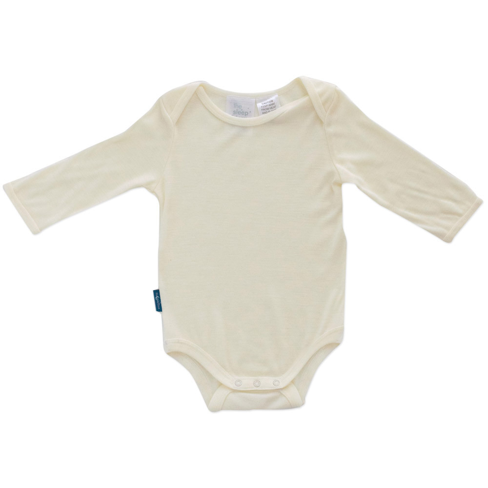 Deluxe Merino Rib Long Sleeve Bodysuit - Prem