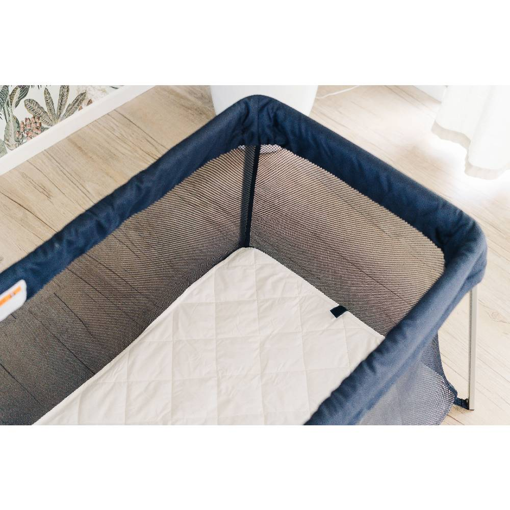 The Sleep Store Quilted Wool Topper - Drift Travel Cot