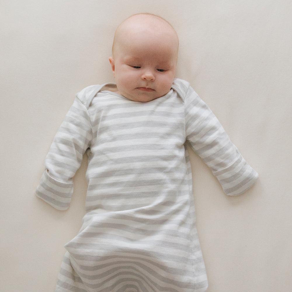 Woolbabe Merino/Organic Cotton Gown - Prem