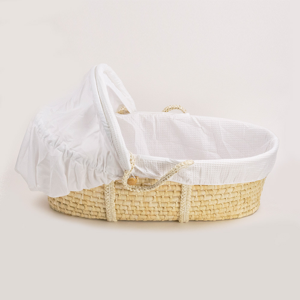 The Sleep Store Moses Basket - Waffle cover + Hood