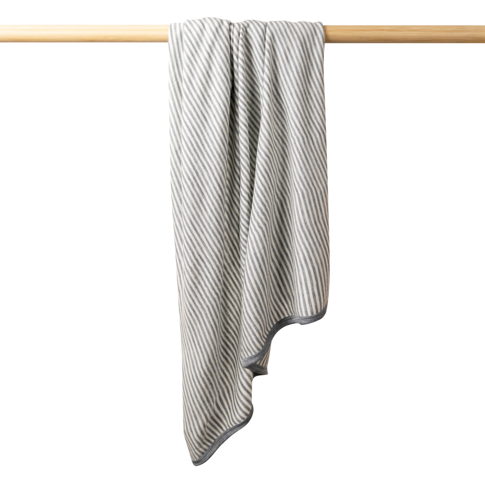 Deluxe Merino Stripe Swaddle Blanket