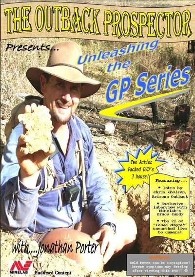 Gold Prospecting The Outback Prospector DVD Jonathan Porter Front cover