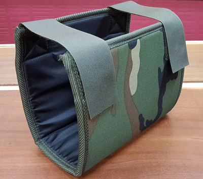 Padded canvas cover for control box protection  Wide velcro straps  Reinforced base suits Minelab GP/GPX Series metal detectors