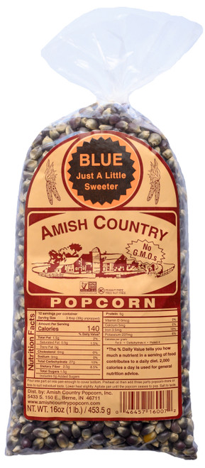 1LB Blue Popcorn