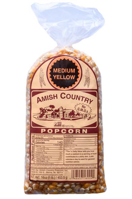 1LB Medium Yellow Popcorn
