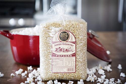 6LB Baby White Non-GMO Popcorn   Amish Country Popcorn in Indiana