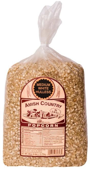 6LB Medium White Popcorn