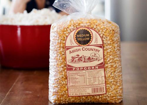 6LB Medium Yellow Non-GMO Popcorn   Amish Country Popcorn