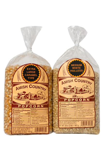 Two 2 Pound Bags of Popcorn
