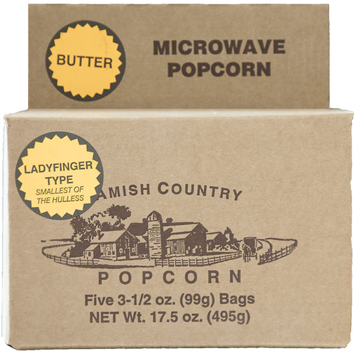 5pk Lady Finger Butter Microwave Popcorn in our Vintage Carton