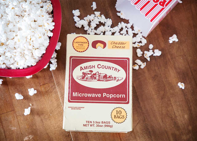 60ct Case Cheddar Cheese Microwave Hulless Popcorn (Includes Free Shipping)