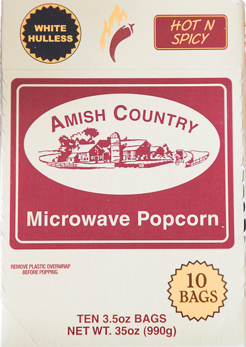 60ct Case Hot n Spicy Microwave Hulless Popcorn (Includes Free Shipping)