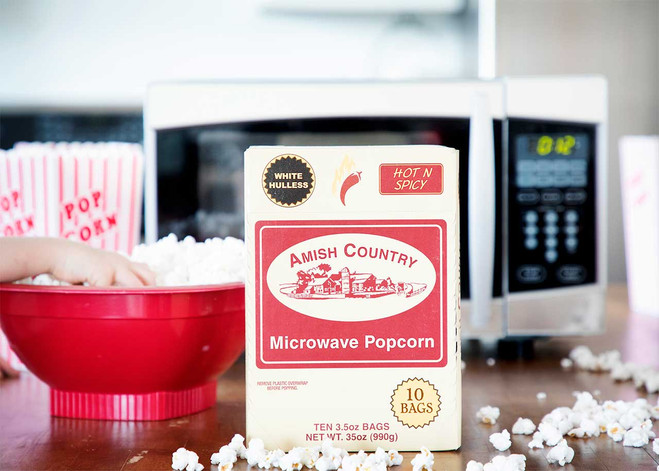 60ct Case Hot n Spicy Microwave Hulless Popcorn