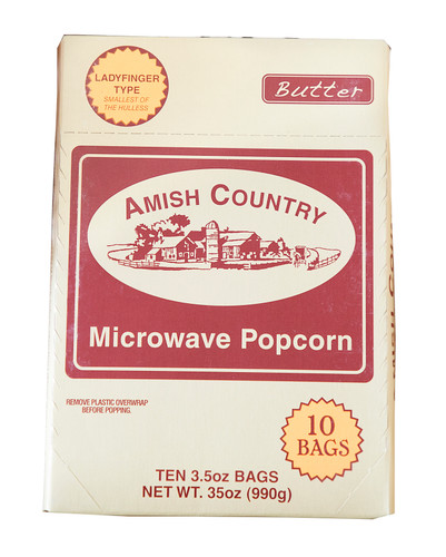 60ct Case Ladyfinger Butter Microwave Hulless Popcorn (Includes Free Shipping)