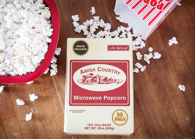 60ct Case Lite Natural Microwave Hulless Popcorn (Includes Free Shipping)