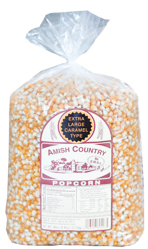 6LB Extra Large Caramel Type Popcorn