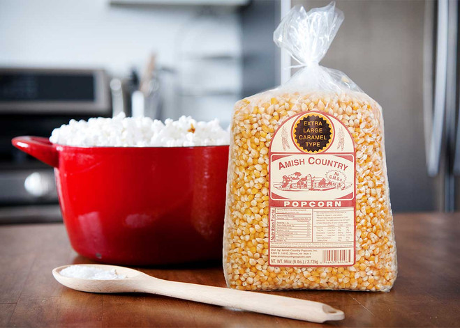 6LB Extra Large Caramel Type Popcorn | Amish Country Popcorn