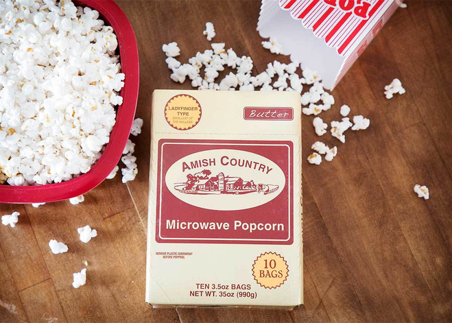 Ladyfinger Butter Microwave Popcorn - Individual Bag