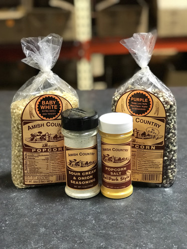 Two 2 Pound Bags of Popcorn w/ Two Salts or Seasonings