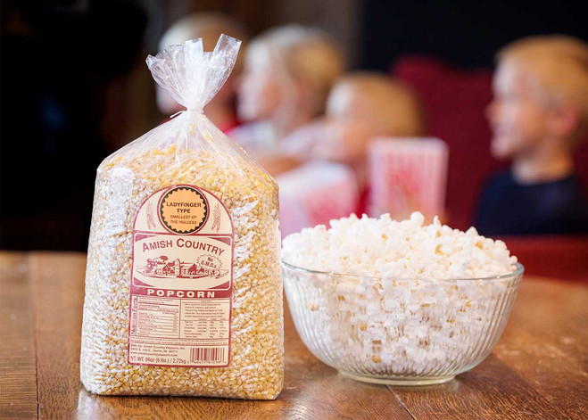 6LB Ladyfinger Non-GMO Popcorn | Amish Country Popcorn
