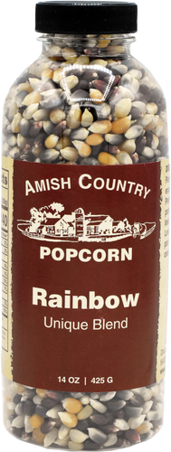 14oz. Bottle of Rainbow Popcorn