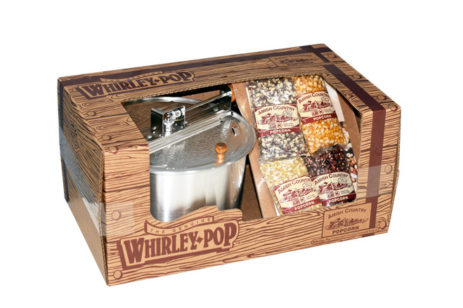 Whirley Pop Gift Set w/ 4oz. Bags of Popcorn