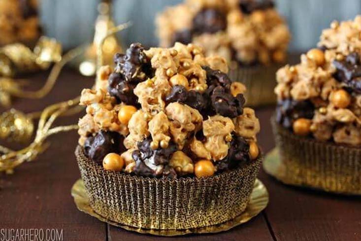 Double Caramel Popcorn Brownies recipe