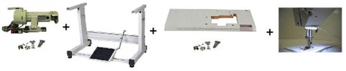 Zoje ZJ457D 3 Three Step Zig Zag & Straight twin needle w/ Servo Motor,Table for Singer 20U,lamp .Assembly required.DIY