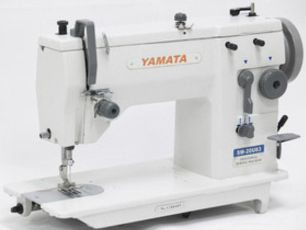 Yamata 20U63 ZigZag Lockstich Reverse Embroidery Sewing Machine 12mm Servo Motor,Table for Singer 20U ,lamp .Assembly required.DIY