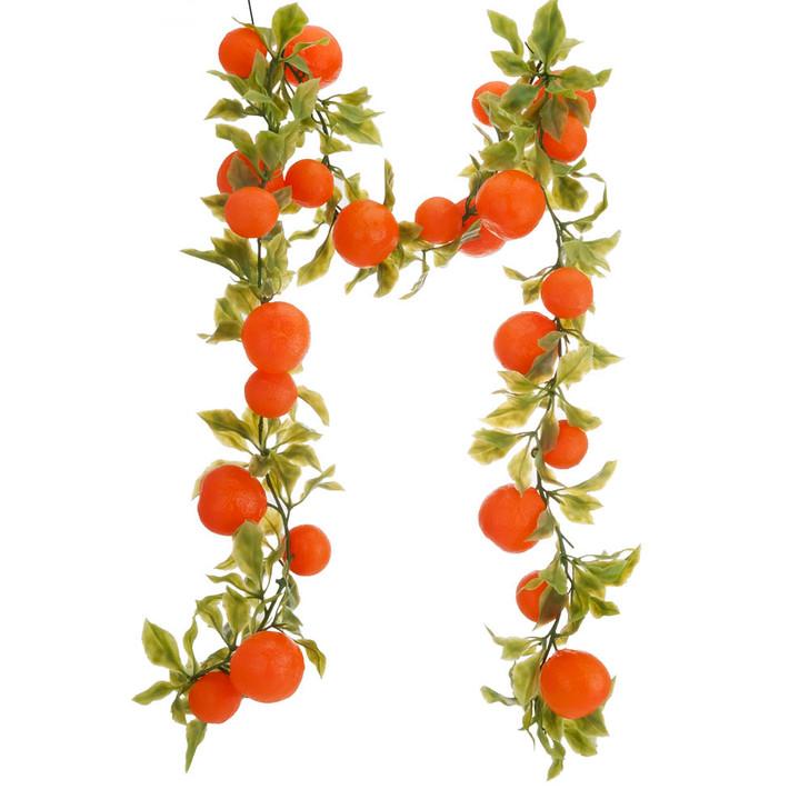 Extra Long Orange Chain Garland