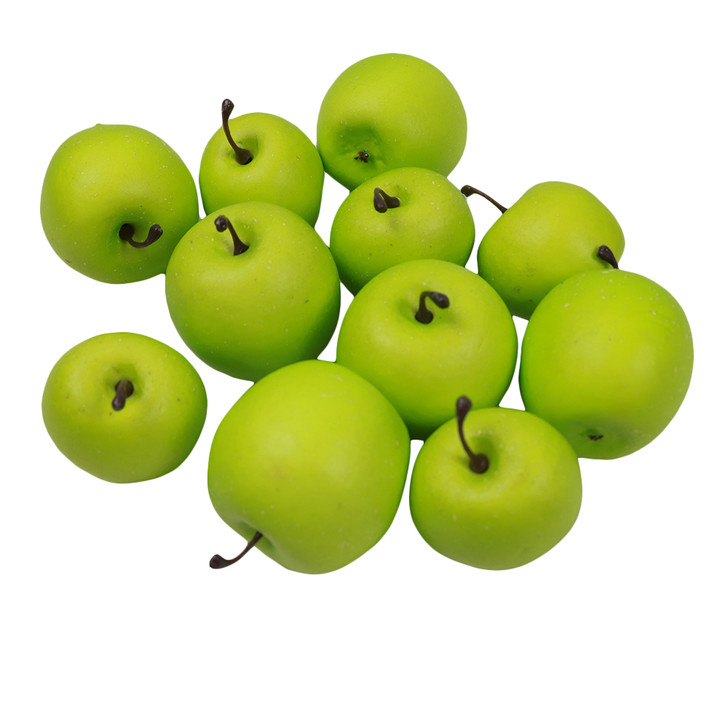 LOVE APPLES GREEN - 2 sizes - 12 Pieces