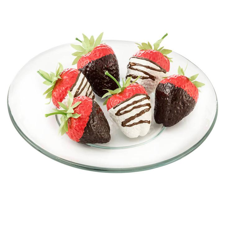 Strawberry - White & Dark Chocolate Dipped - Plated