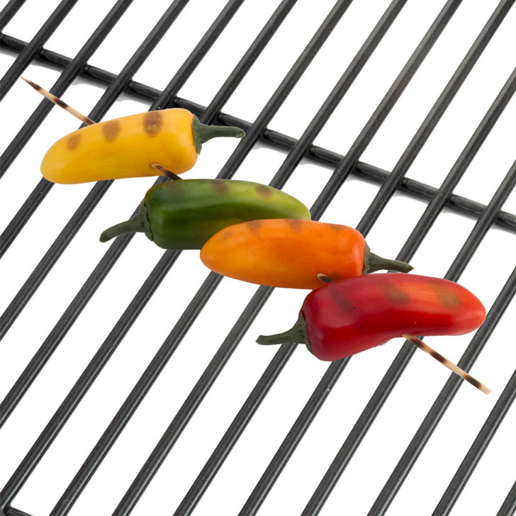 Grilled Hot Peppers on Skewer