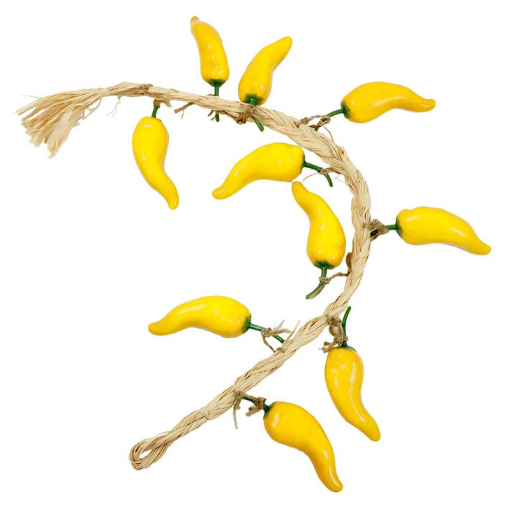 Yellow Gypsy Chili Pepper String Garland