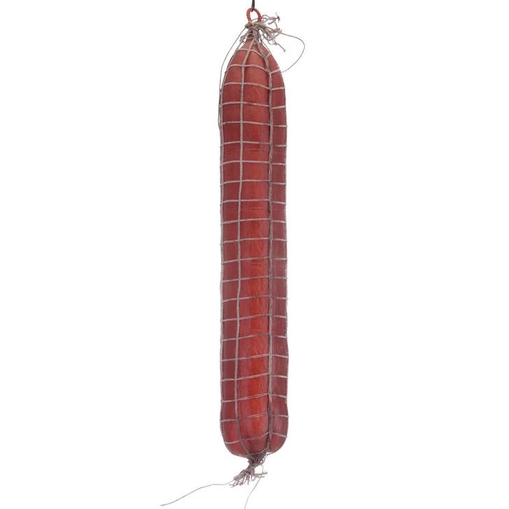 Long Dark Salami In Net