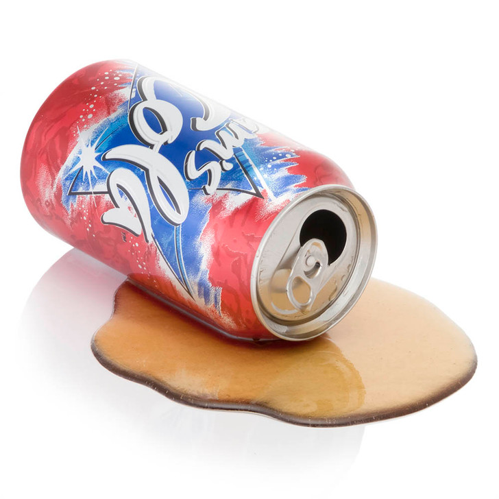Spilled Cola Can