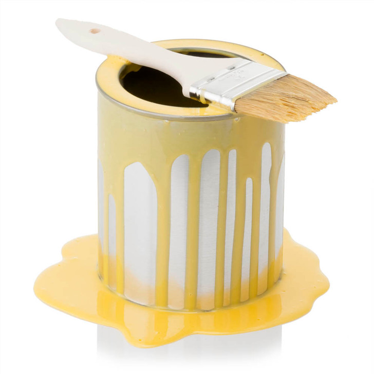 Paint Can - Yellow - Spilled
