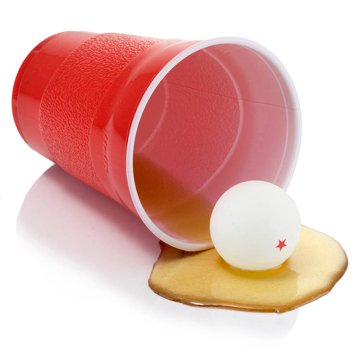 Fake Beer Pong Spill in Red Cup
