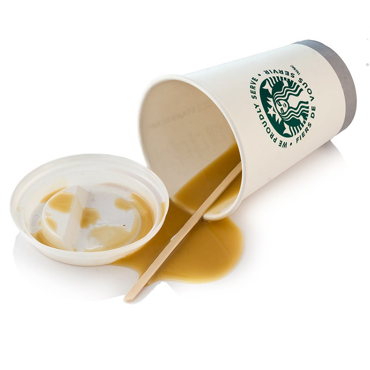 Starbucks Cup w/ Lid - Spilled